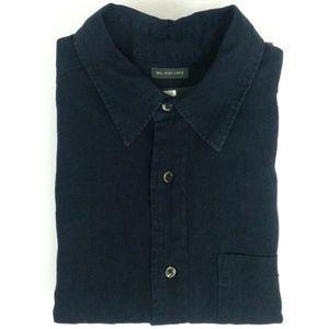 100% Irish Linen Button Front Shirt